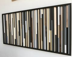 Abstract Painting on Wood  Wall Art from reclaimed wood