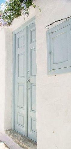 Ideas french blue front door entrance for 2019 - Jeannette Jimenez - Ide. Architecture Renovation, Haus Am See, Bleu Pastel, Front Door Entrance, French Blue, Blue Aesthetic, Beach Cottages, Shades Of Blue, Light Blue
