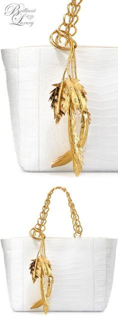 Brilliant Luxury * Nancy Gonzalez Crocodile Chain Tote
