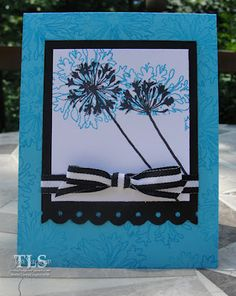 5 Inky Fingers (Toni S) put this great card using our Agapanthus Thanks Perfectly Clear Stamp Set on her blog. ooh la la