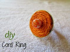 DIY - Cord Ring!!! Comment and share this tutorial and you might be the winner!!!!