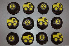 Dump truck cupcakes on dirt frosting by Hol-Berry's Cupcakes, via Flickr