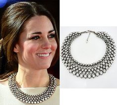 Kate Middleton inspired necklace/ Evening jewelry/ diamante necklace/ evening/ sparkling