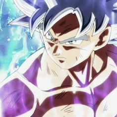 Ultra instinct Goku shirtless!!!!♡>//w//<