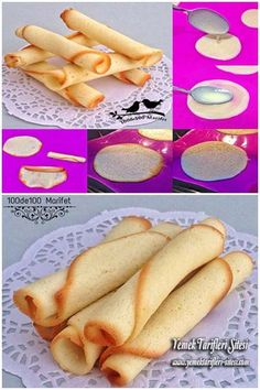 Çıtır Rulo Bisküvi Tarifi Dessert Sans Four, Biscuits Croustillants, Turkey Cake, Candy Cookies, Bakery Cakes, Sin Gluten, Hot Dog Buns, Trifle, Food And Drink
