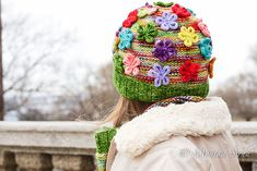Ravelry: Kveta Hat pattern by Monika Sirna Baby Knitting Patterns, Knitting Yarn, Knit Crochet, Crochet Hats, Gloomy Day, Bunch Of Flowers, Knitting Accessories, Knit Beanie, Yarn Crafts