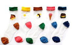 Transparent Silk Food Socks Fun Novelty Womens by TheArtsyAttic