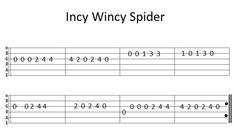 electric guitar songs for beginners Easy Guitar Tab Incy Wincy Spider Guitar Tabs Acoustic, Easy Guitar Tabs, Easy Guitar Songs, Guitar Chords For Songs, Guitar Sheet Music, Ukulele Chords, Ukulele Tabs, Guitar Tips, Guitar Tabs For Beginners