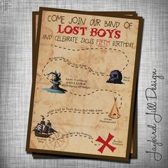 Boys Birthday Party Invitation Best Of Lost Boys Birthday Invitation Peter Pan Neverland Party Twin First Birthday, First Birthday Parties, Birthday Party Themes, First Birthdays, Birthday Ideas, 3rd Birthday, Boy Birthday Invitations, Party Invitations Kids, Lost Boys Peter Pan