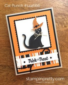 Stampin Up Cat Punch Halloween Card Idea - Mary Fish StampinUp