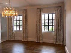 Draperies furnished and installed by Kite's Interiors
