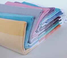 Set of 2 Turkish Towel Pestemal Fouta Peshtemal Towel Fouta Beach Workouts, Spa Towels, Beach Bath, Turkish Towels, Aqua, Bedding, Color, Etsy, Water