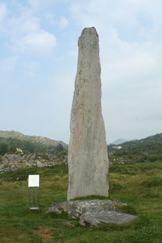 Irish grid ref: V 6569 5291. On the windswept headland to the south of Lough Fadda, at the far-western point of County Cork, Southern Ireland, stands the ancient monument which is known as Ballycrovane Ogham Stone...