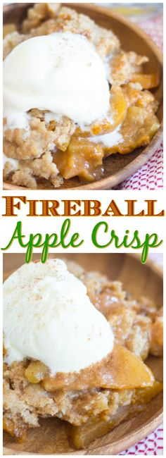107 best fireball images on pinterest fireball recipes desert classic apple crisp spiked with fireball whiskey for a boozy kick this fireball apple crisp is loaded with sweet cinnamon y apples topped with buttery forumfinder Images