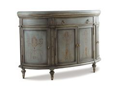 Shop for Chaddock Cortona Chest, A375-58, and other Living Room Chests and Dressers at Chaddock in Morganton, NC. Wood Top (Standard); Four Doors with (1) Adj. Shelf Behind Each; One Drawer; Available Only in As Shown Finish: 5040 Antique Blue with Decoration.