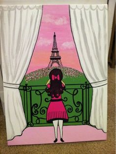 Little girl in Paris by SpoonfulOfSunshine on Etsy, $49.00