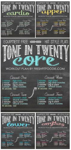 These do anywhere, equipment free, HIIT style Tone In Twenty Workouts are the perfect thing to keep you feeling great wherever you go!