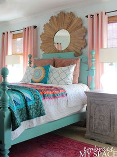 Awesome 20+ Sweet And Colorful Bedroom Décor Ideas. More at https://trendecora.com/2018/03/31/20-sweet-and-colorful-bedroom-decor-ideas/