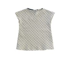 Image of Edith Blouse in Grey Gingham Gauze