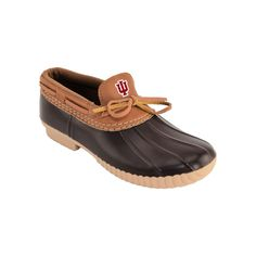 Women's Indiana Hoosiers Low Duck Step-In Shoes, Size: 10, Brown