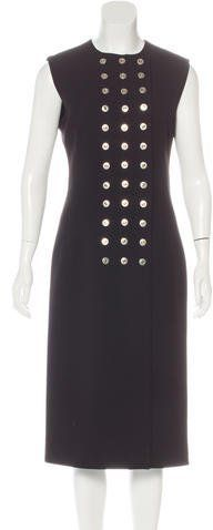 9718260980b833 Black Balenciaga sleeveless midi dress with crew neckline