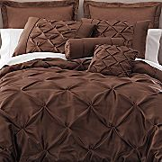 The elegant comforter that I want! A pin-tucked bed set that i will complement with golden sheets.