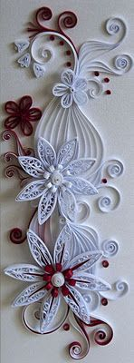 Quilling cards - old ideas with new colors love this!