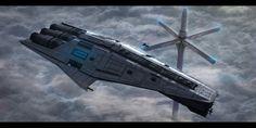 Star Wars Mandalorian Cruiser by AdamKop