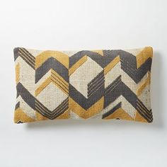 2 for bed in Master bedroom accent pillow on bed. Broken Arrow Pillow Cover - Horseradish #westelm