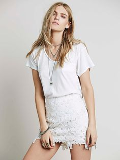 Free People Bella Donna Lace Mini at Free People Clothing Boutique