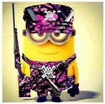 Muddy girl camo minion