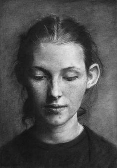 Serenity - Charcoal on paper