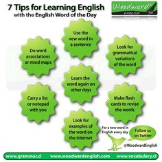 7 Tips for learning an English Word every day.