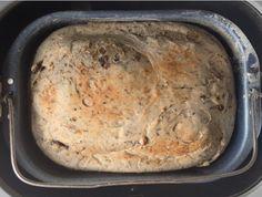 Black Olive & Rosemary Bread  in a bread maker. Hmmmmm......
