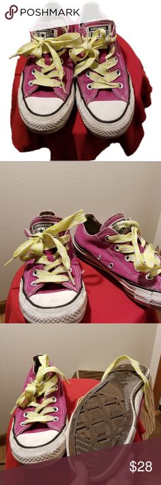 Pink Converse All Star Shoes Pink Converse All Star shoes. Good condition Converse Shoes Sneakers