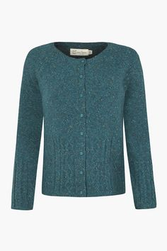 Cable knit Seasalt cardigan in the softest lambswool. Inspired by favourite cardys of long ago with pretty button up front, round neck and cable knit.