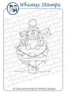 Whimsy Stamps/C. The Crissy Armstrong Collection for Whimsy Stamps. Deeply etched rubber mounted on cling cushion foam, untrimmed. Approximate size: X Whimsy Stamps, Digi Stamps, Christmas Yard Art, Christmas Cards, Penguin Coloring Pages, Heartfelt Creations, Happy Mail, Fabric Painting, Clear Stamps