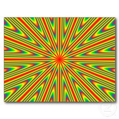 Solar Burst Post Cards #gifts #psychedelic #abstract