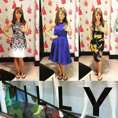 We're definitely missing summer fashion as we head into the colder months! #TBT to our host #SaraGore trying on @millyny dresses this summer! #NewYorkLiveTV
