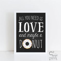 Love & Donuts Printable Sign by cSquaredDesignCo on Etsy