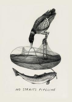 No Straits Pipeline - Art - Pat Perry