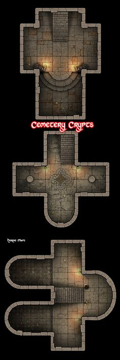 Heroic Maps - Cemetery Crypts - Heroic Maps | Dungeons | Temples & Churches | Geomorphs | Tombs | Encounters | DriveThruRPG.com