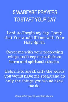 5 Warfare Prayers to Start Your Day. Morning Prayers. Spiritual Warfare Prayers.