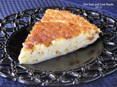 Magic Crust Custard Pie (altered as follows)  1/4 cup butter  4 eggs  1/4 cup Xylitol  1/4 cup Splenda  1 pinch salt  2 cups Almond milk   2 teaspoons vanilla extract  1/4 cup coconut flour  ½ tsp Xanthan Gum  cinnamon- good
