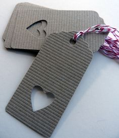 10 Heart Shaped Gift Tags by Millyscottage on Etsy, $9.00