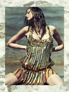 Beat the heat and remain sultry in sky-rocketing temps!Magdalena Glonek for Elle Greece July 2012