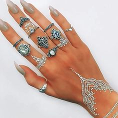 Image de nails, rings, and henna