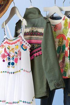 Buy Khaki Embellished Pom Pom Jacket (3-16yrs) from the Next UK online shop