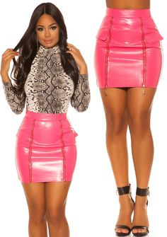 Leather Skirt, Mini Skirts, Fashion, Moda, Leather Skirts, Fashion Styles, Mini Skirt, Fashion Illustrations