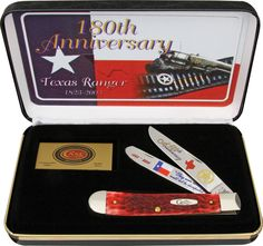 Case Cutlery: Texas Ranger Trapper Collector Knives, Best Hunting Knives, Knives And Tools, Texas Rangers, Anniversary Gifts, Cutlery, Ebay, Authenticity, Red